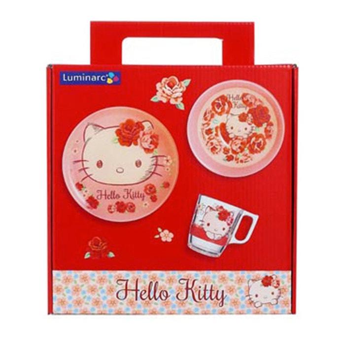 Set de vaisselle pour enfant hello kitty rose passion rose luminarc la redoute - La redoute vaisselle ...