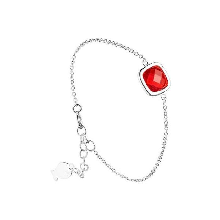 Bracelet chaîne sissi en argent 925, grenat, 1.75g rouge Clio Blue | La Redoute