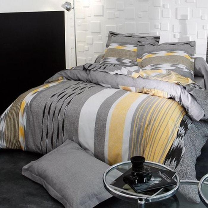 housse de couette soft gris jaune tradilinge la redoute. Black Bedroom Furniture Sets. Home Design Ideas