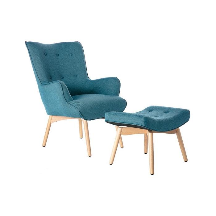Design Bois Fauteuil Scandinave Son Bristol Pied Repose 34AR5qLj