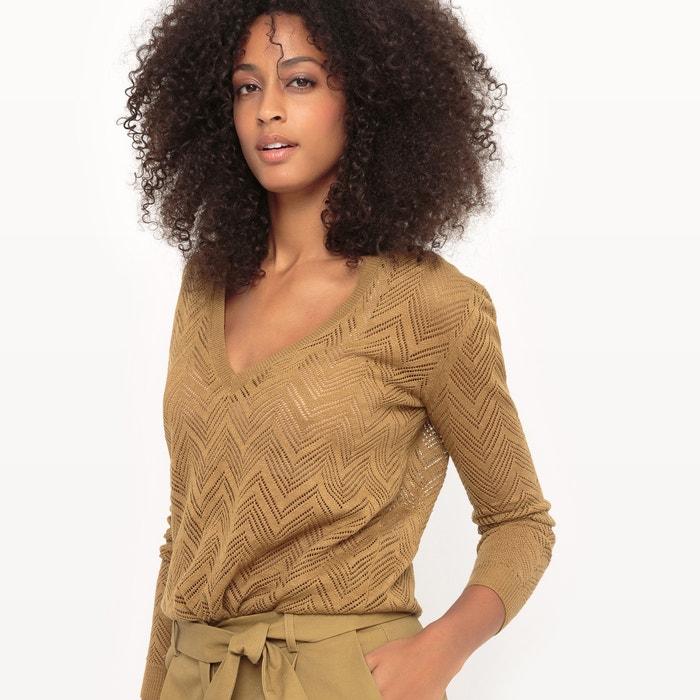 cuello Collections Redoute de pico calado de lino Jersey La x6vYq1wY