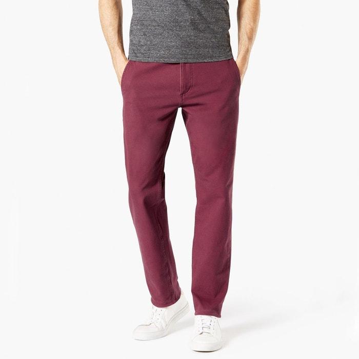Pantalon chino slim taper stretch smart 360 flex rouge bordeaux Dockers   La  Redoute c0cb0452640a