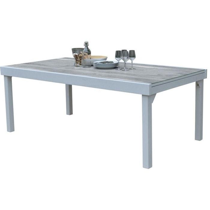 Table de jardin Modulo wood 200 à 320 cm