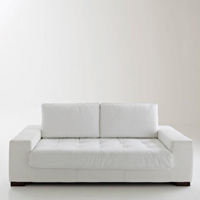 canap convertible arlon coussins cuir la redoute interieurs la redoute. Black Bedroom Furniture Sets. Home Design Ideas