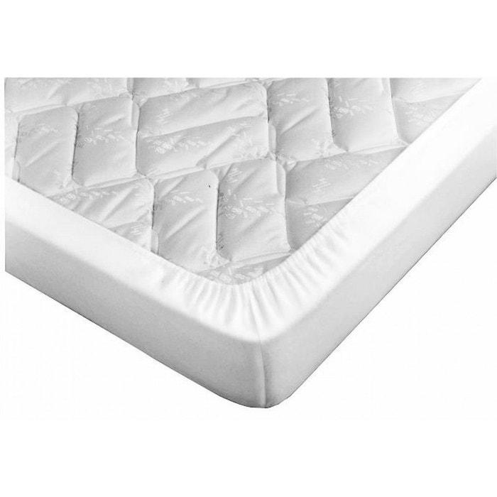 Drap housse blanc pour canapé lit bonnet 15 cm blanc Terre De Nuit ...