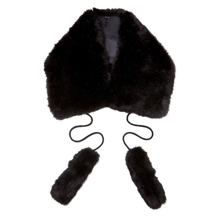 Echarpe fourrure synthetique noir Kebello   La Redoute 4647497b43b
