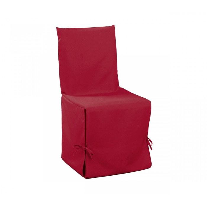 housse de chaise rouge rouge douceur d 39 int rieur la redoute. Black Bedroom Furniture Sets. Home Design Ideas