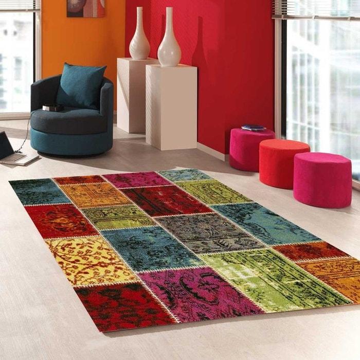 Tapis De Salon Moderne Design Patchaworka Polypropylene