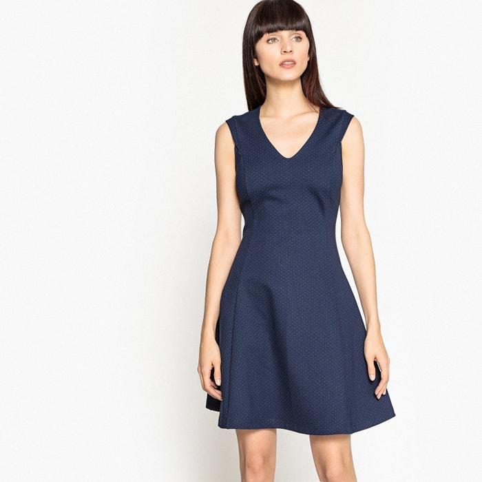 V-Neck Polka Dot Print Skater Dress  MADEMOISELLE R image 0