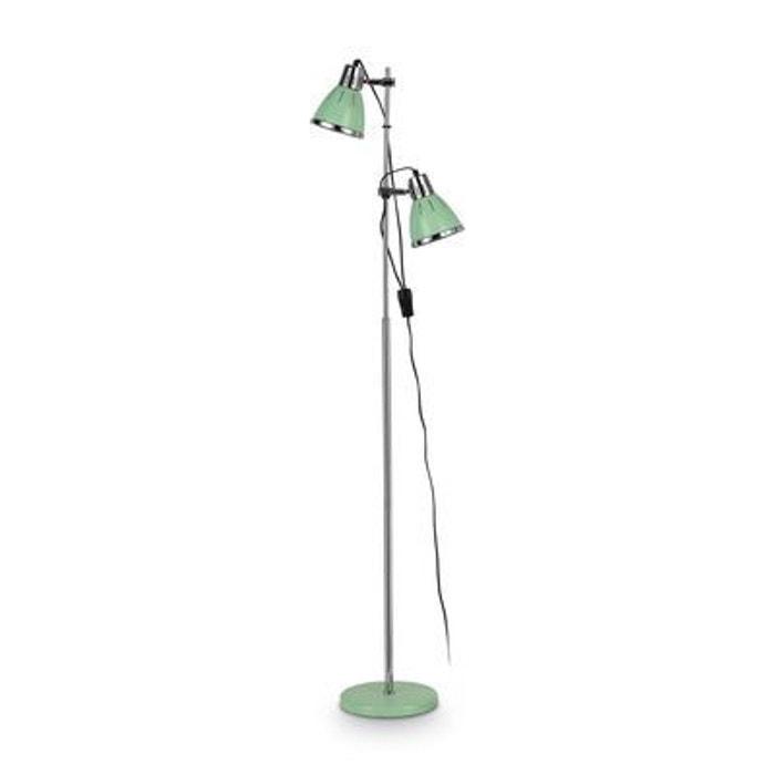 lampadaire elvis vert 2x60w ideal lux 002019 multicolore boutica design la redoute. Black Bedroom Furniture Sets. Home Design Ideas