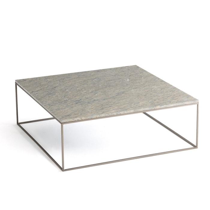 Table Basse Métal Et Marbre Gris Mahaut Marbre Gris Ampm La Redoute