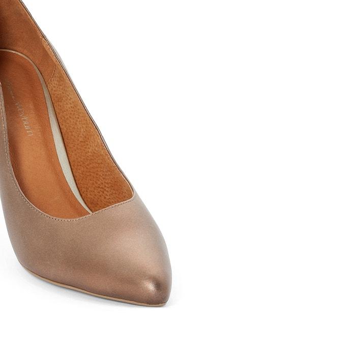 ANNE WEYBURN Leather Heels with Wave-Detail buy cheap big discount W6sSFaE1