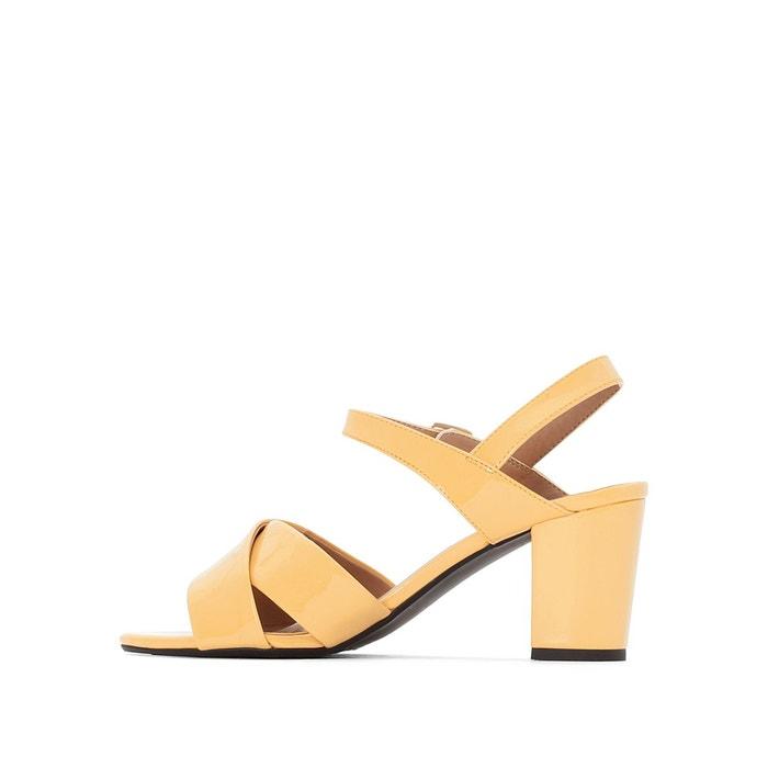 Sandales vernies jaunes brides croisées jaune La Redoute Collections