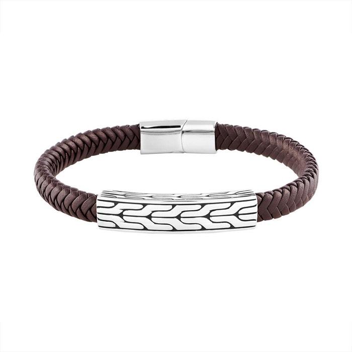 La Sortie Populaire Vente Classique Bracelet les haubans en acier et cuir marron marron B&G | La Redoute Vente Pas Cher Meilleur Magasin Pour Obtenir LeQrnQX