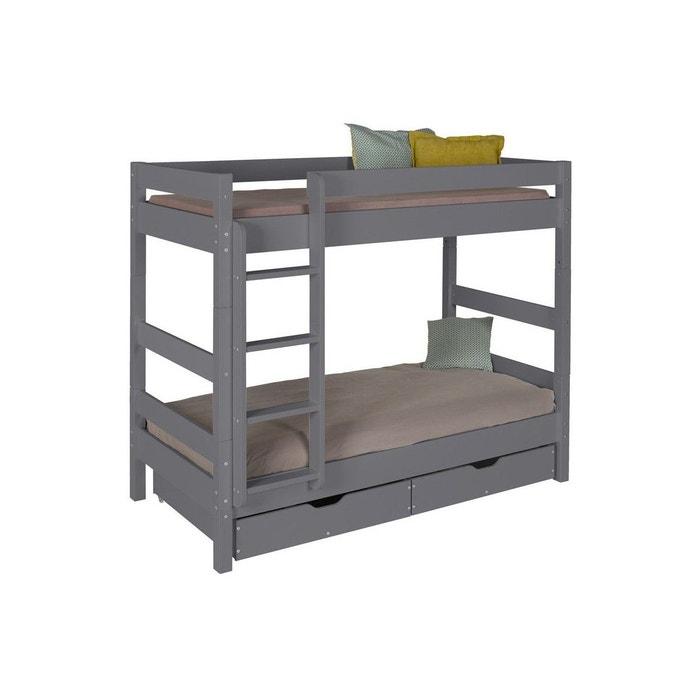 lit mezzanine 2 places escalier bureau places lit. Black Bedroom Furniture Sets. Home Design Ideas