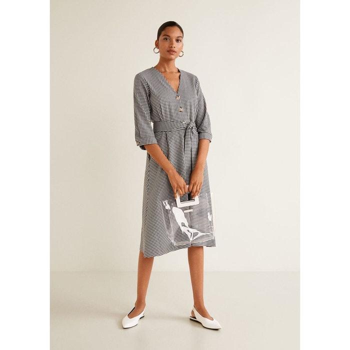 Robe noeud à carreaux Mango   La Redoute 6ef8ea056099