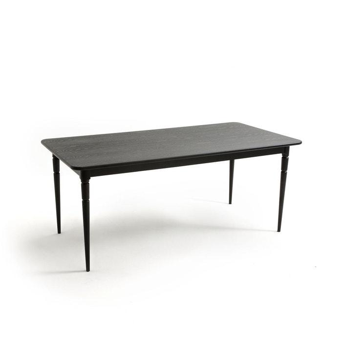 Table salle manger 6 couverts lipstick noir la redoute - La redoute table salle a manger ...