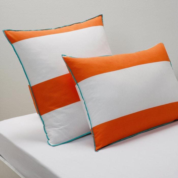 Image Yacht Nautical Striped Single Pillowcase La Redoute Interieurs