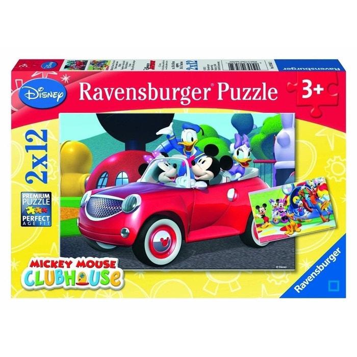 Mickey, Minnie et leurs amis - Puzzle 2x12 pièces - RAV07565 - RAV7565