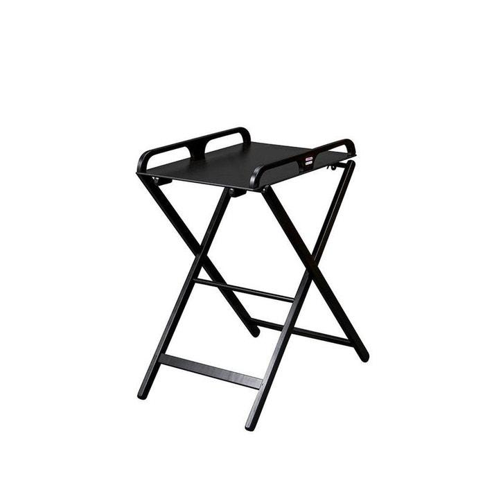 Table à langer pliante en bois Jade laquée noire Combelle  COMBELLE image 0