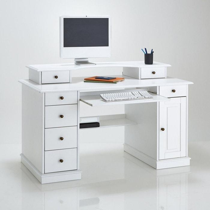 Bureau multim dia authentic style blanc la redoute - Redoute bureau ...