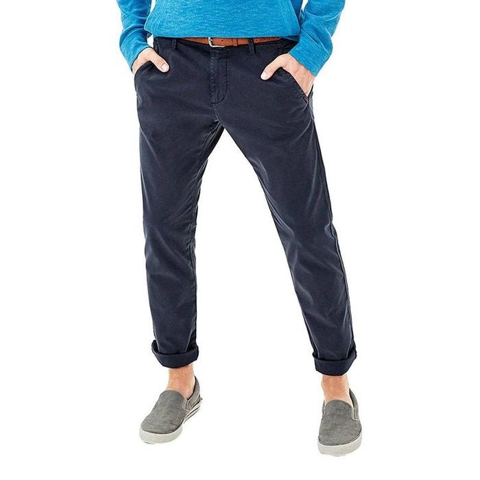 a02ffca954eb6 Pantalon slim fit en coton stretch bleu S.Oliver | La Redoute