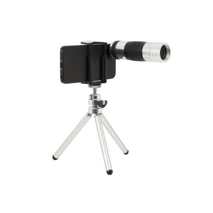 Yonis - Téléobjectif télescopique zoom X12 iPhone 5 5S avec trépied | La Redoute