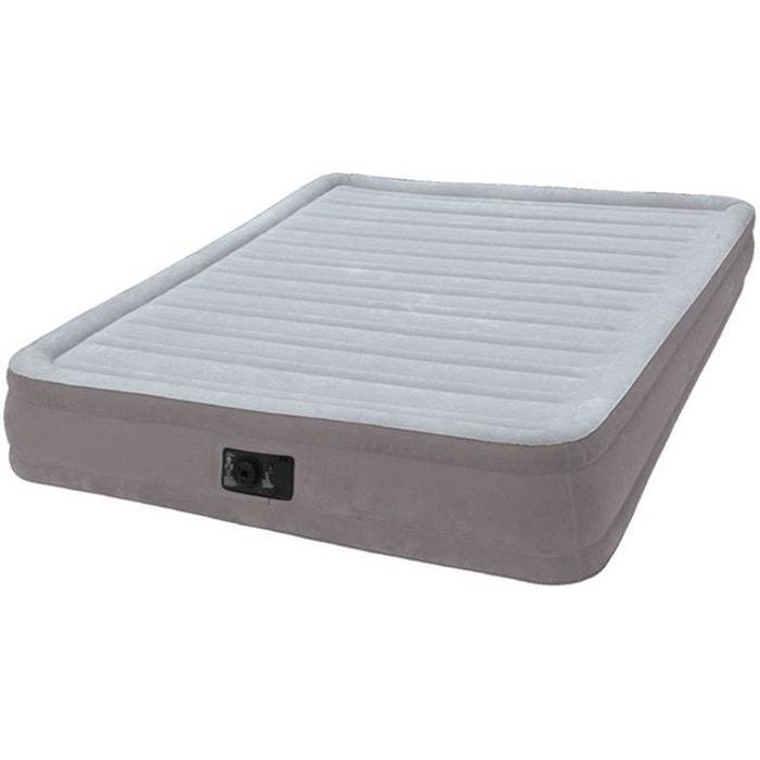 intex comfort plush lit gonflable long 191 x larg 137 x h 33 cm gris intex la redoute. Black Bedroom Furniture Sets. Home Design Ideas