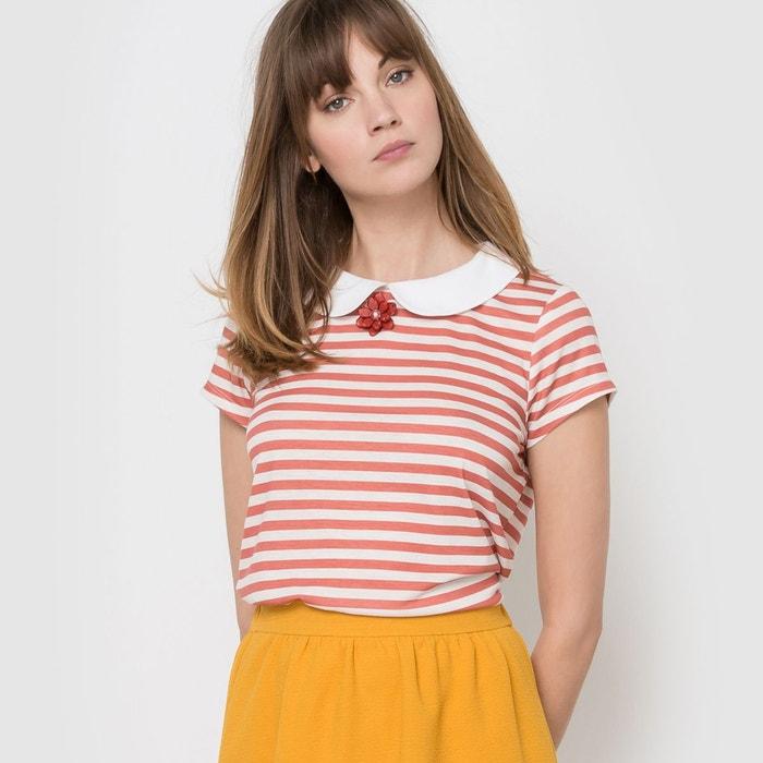 T-shirt marinière col bijou MADEMOISELLE R