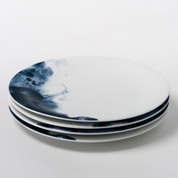 Set of 4 Encira Porcelain Flat Plates
