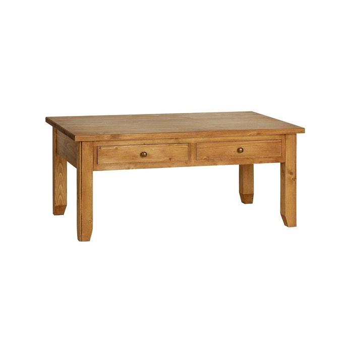 table basse rectangulaire marron interior s la redoute. Black Bedroom Furniture Sets. Home Design Ideas