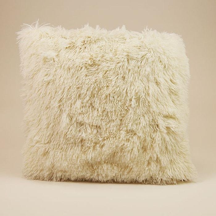 coussin longs poils violet dodo la redoute. Black Bedroom Furniture Sets. Home Design Ideas
