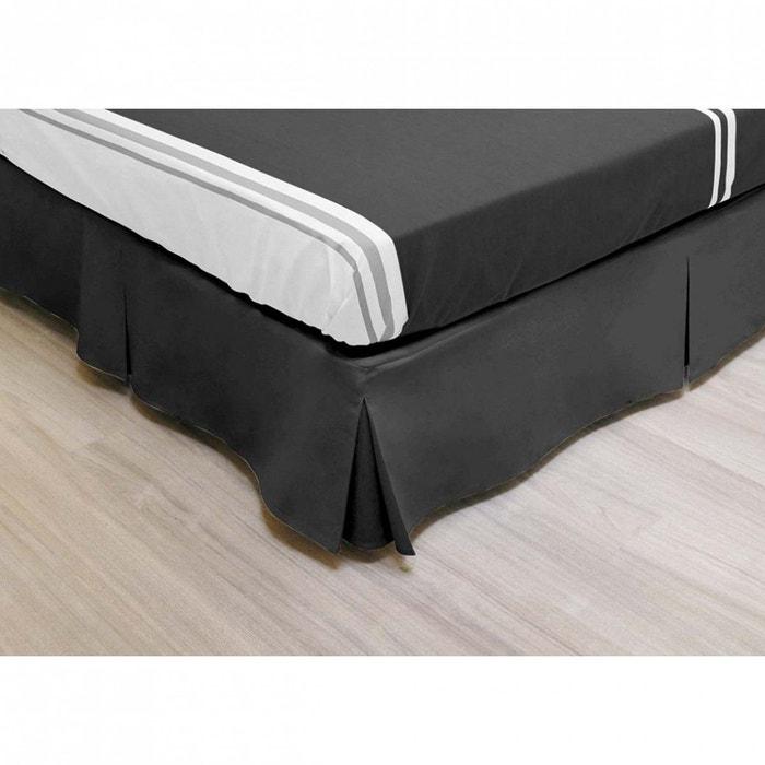 cache sommier int gral microfibre noir noir terre de nuit la redoute. Black Bedroom Furniture Sets. Home Design Ideas
