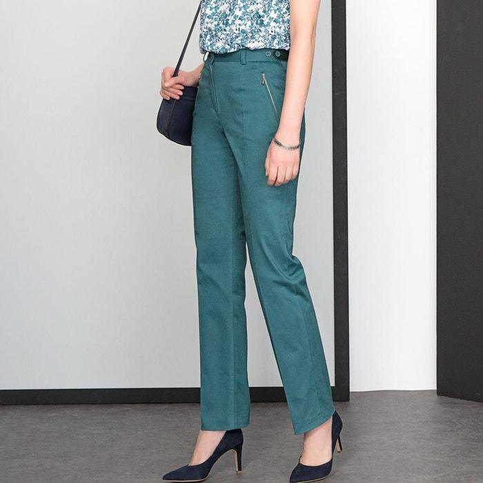 Weyburn Redoute Satin La Stretch Coton Pantalon De Émeraude Vert Anne Tw00R61q