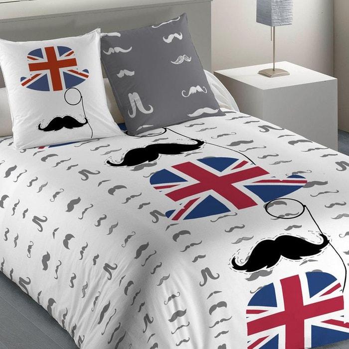 parure de lit new mister multicolore les ateliers du linge la redoute. Black Bedroom Furniture Sets. Home Design Ideas