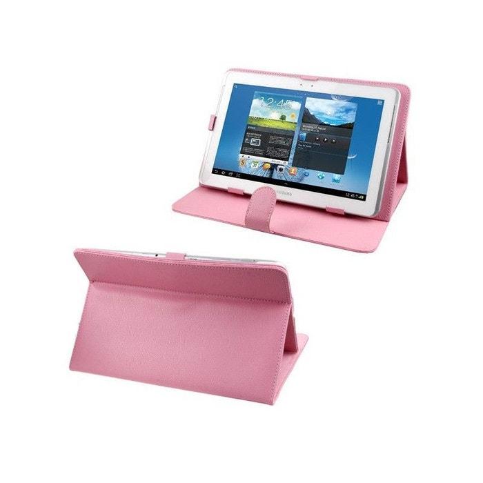 housse tablette 10 1 pouces protection universelle simili cuir rose multicolore yonis la redoute. Black Bedroom Furniture Sets. Home Design Ideas