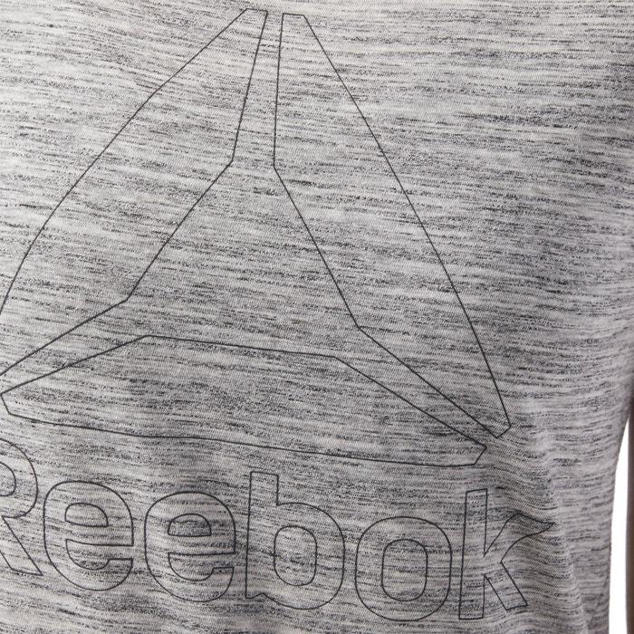 delante cuello estampado redondo con corta de REEBOK y Camiseta manga qHBfnTz