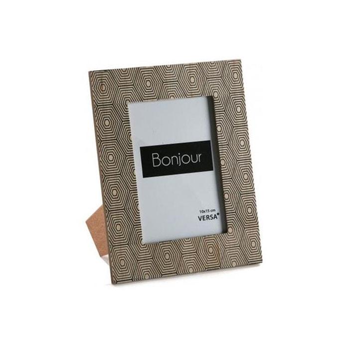 cadre photo 10x15 en bois impression g om triques medeola marron versa la redoute. Black Bedroom Furniture Sets. Home Design Ideas