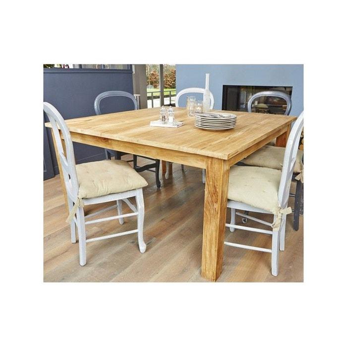 Table manger carr e en bois de teck 6 8 couverts teck - Table a manger la redoute ...