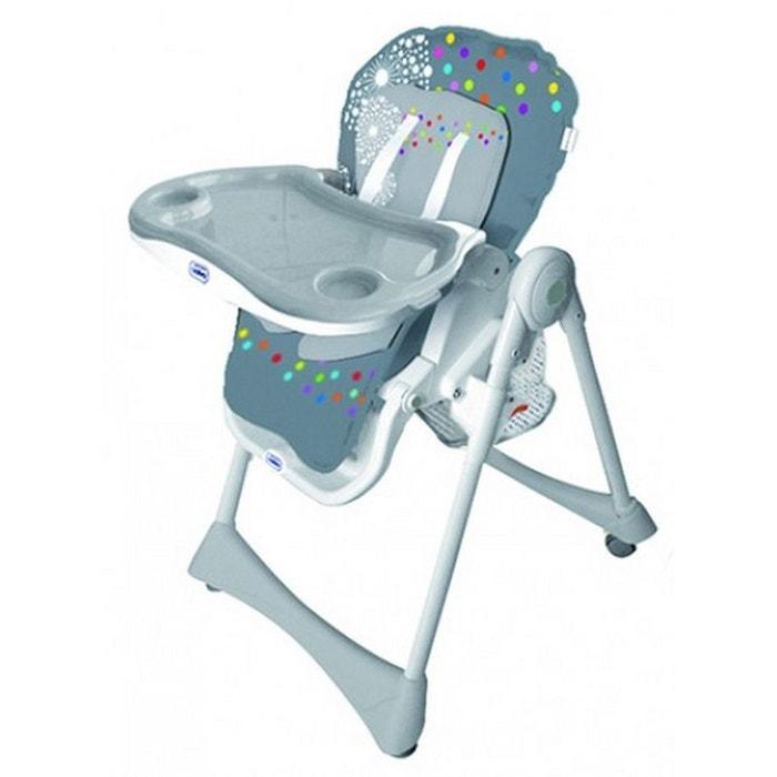 chaise haute pliante volutive baby fox grise gris baby fox la redoute. Black Bedroom Furniture Sets. Home Design Ideas
