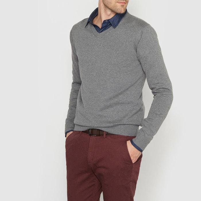Imagen de Jersey cuello de pico 100% algodón R essentiel