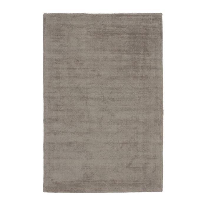 tapis effet vintage taupe en viscose tiss main kruger deladeco image 0 - Tapis Taupe