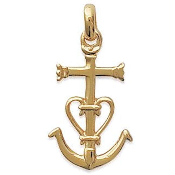 Pendentif croix de camargue plaqué or 750 So Chic Bijoux   La Redoute e800d04d888