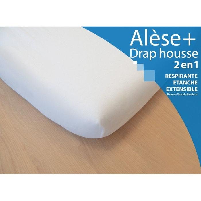 Alèse & drap housse 2 en 1  tailles au choix blanc