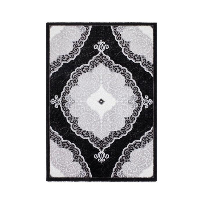 tapis style baroque noir brillant lana noir allotapis la redoute. Black Bedroom Furniture Sets. Home Design Ideas