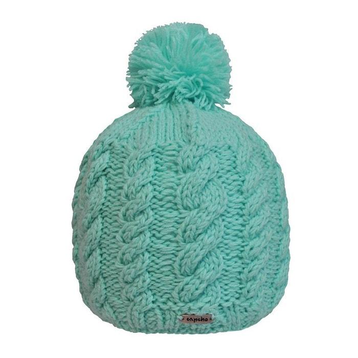 Bonnet agua à pompon tricoté main bleu clair Toutacoo | La Redoute Vente Classique Livraison Gratuite Meilleurs Prix Magasin De Sortie Pour MI2Y1