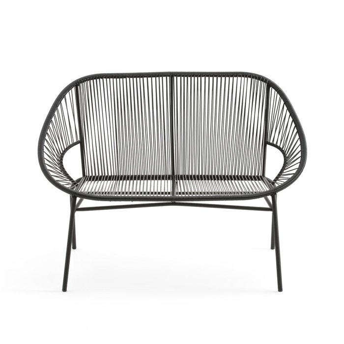 banquette de jardin joalie noir la redoute interieurs la redoute. Black Bedroom Furniture Sets. Home Design Ideas