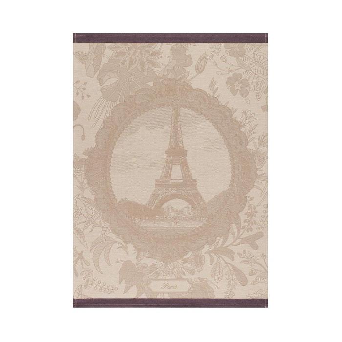 Torchon souvenir de paris chanvre 60x80 100 coton beige le jacquard francais - Jacquard francais paris ...