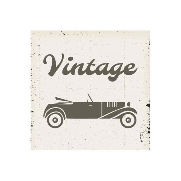 tableau retro voiture vintage 50x50 le na declikdeco la redoute. Black Bedroom Furniture Sets. Home Design Ideas