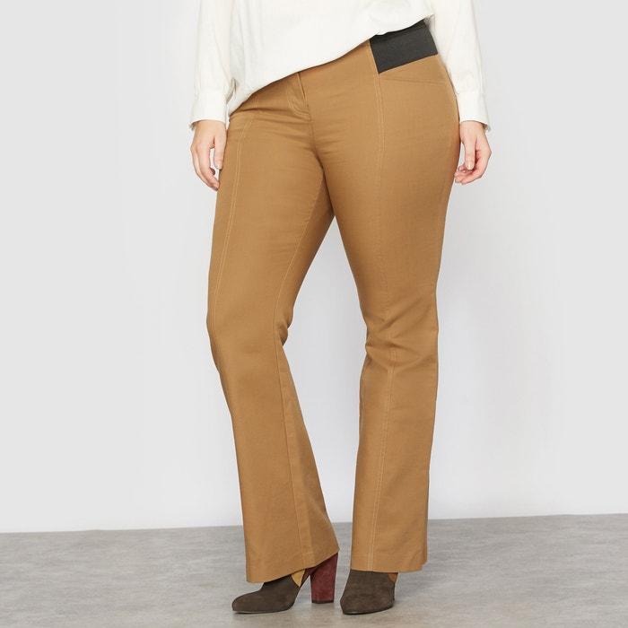 Image Figure Shaping Stretch Cotton Bootcut Trousers CASTALUNA
